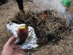 焚き火と焼き芋